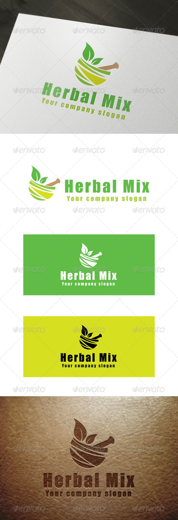 GraphicRiver Herbal Mix Logo 8634955