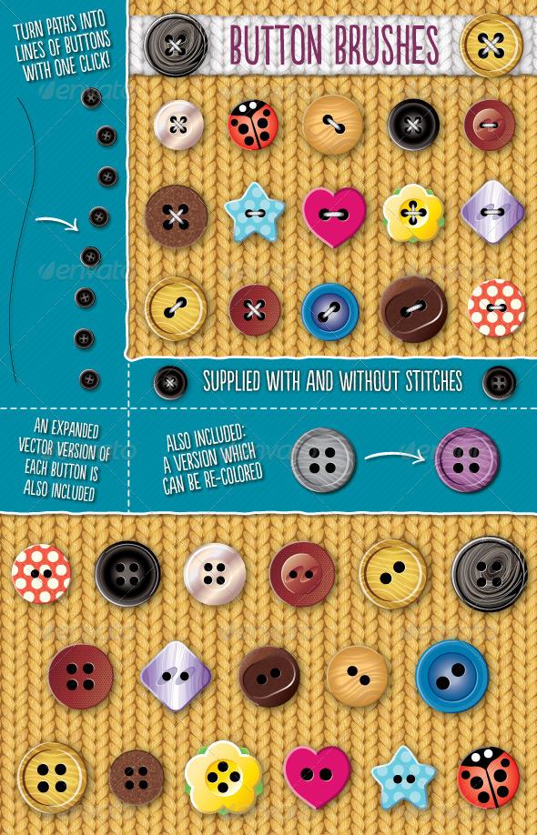 GraphicRiver Button Brushes 8635141
