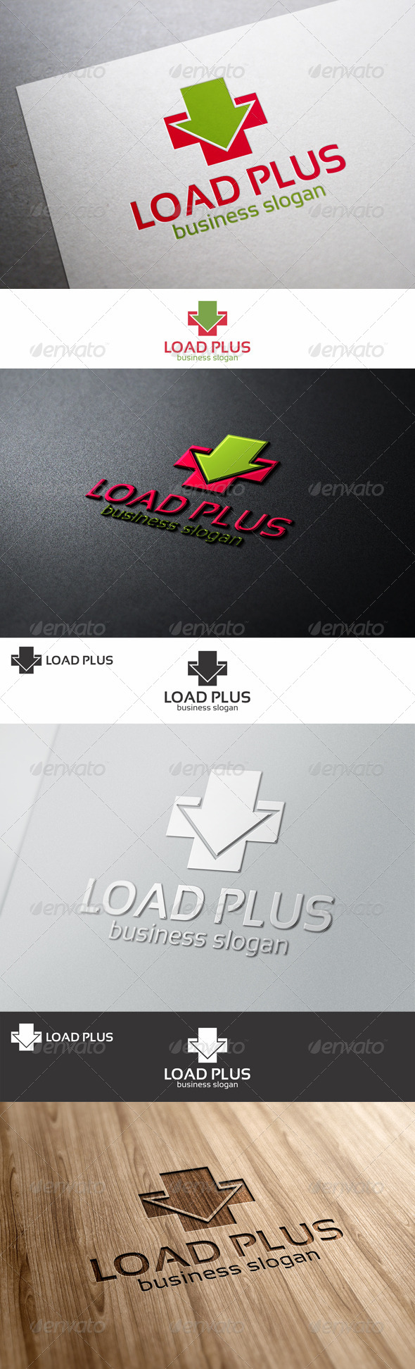 GraphicRiver Load Plus Logo Template 8635250