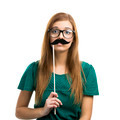 Girl with Mustache - PhotoDune Item for Sale