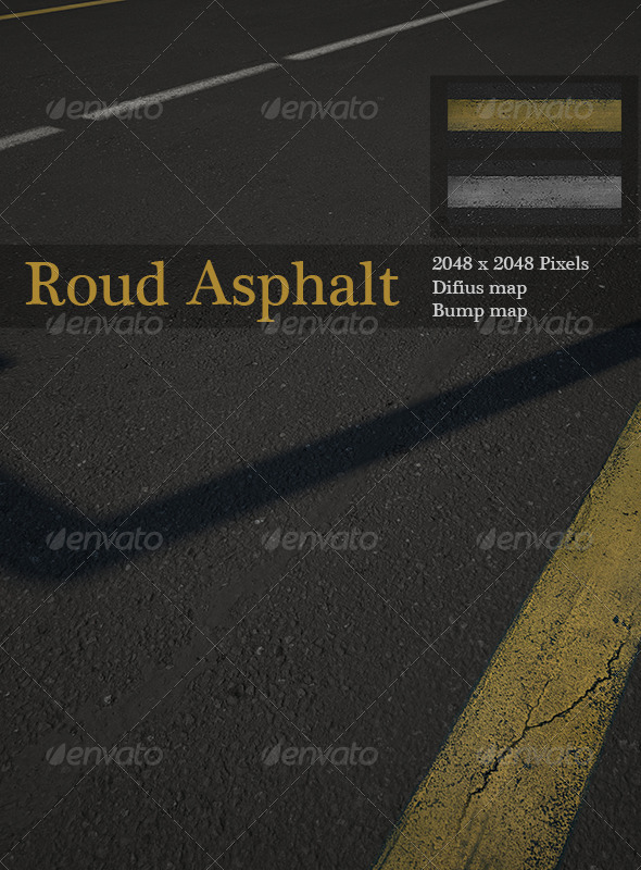 Road Asphalt - 3DOcean Item for Sale