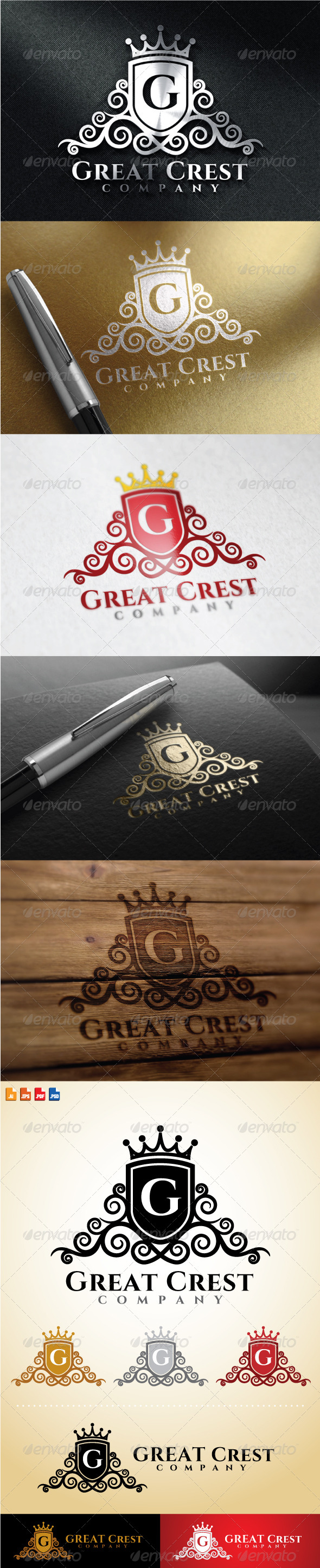 GraphicRiver Great Crest Logo 8635444