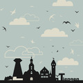 Birds over a city - PhotoDune Item for Sale
