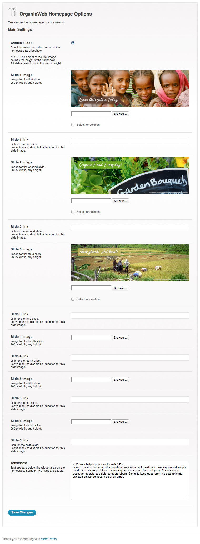 Organic Web - Environmental WordPress Theme