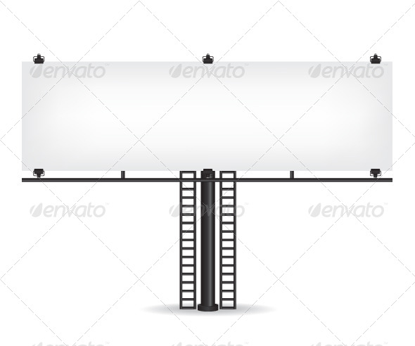 GraphicRiver Blank Black Billboard 8635656