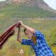 Young woman near broken car - PhotoDune Item for Sale