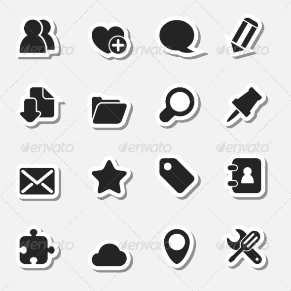 GraphicRiver Internet Icons Set as Labels 8635754