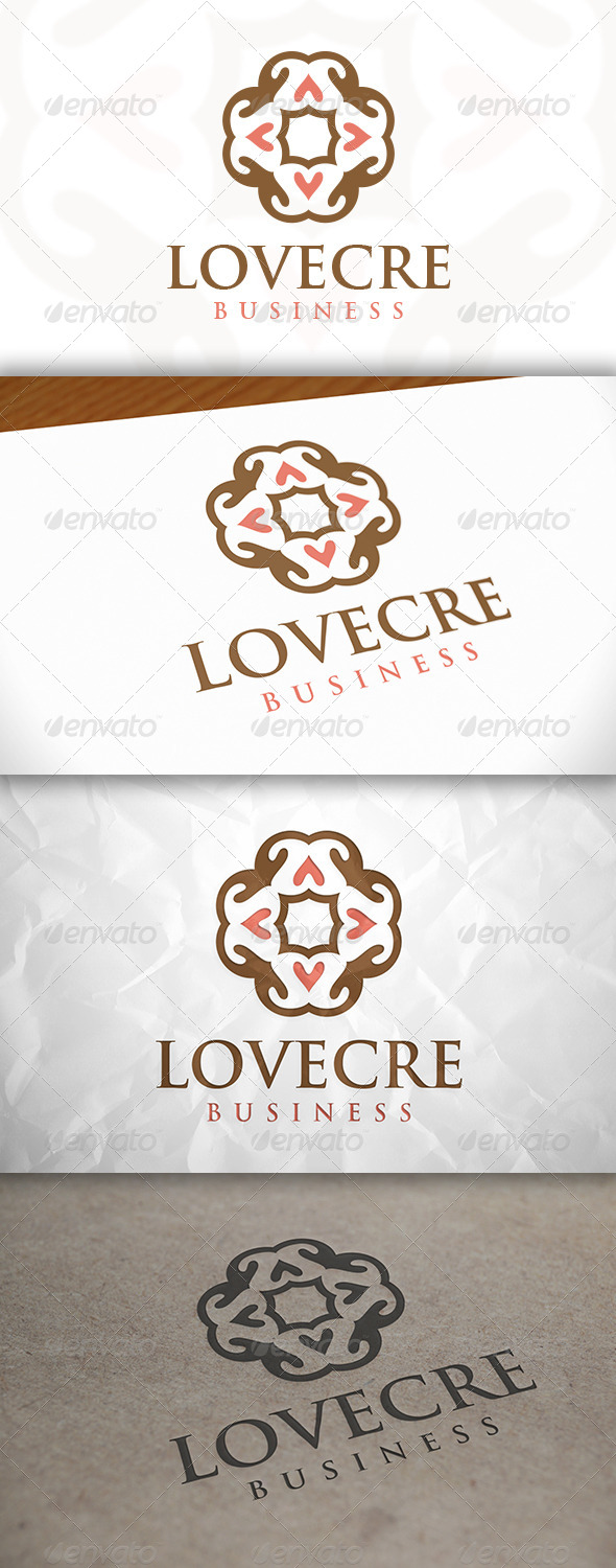 GraphicRiver Love Crest Logo 8635760