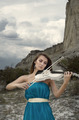 Young woman with violin - PhotoDune Item for Sale