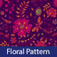 Floral Seamless Pattern with Dragonfly - GraphicRiver Item for Sale