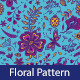 Floral Seamless Pattern with Flowers and Dragonfly - GraphicRiver Item for Sale