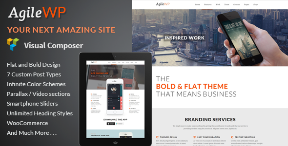 Agile Multi-Purpose App Showcase WordPress Theme
