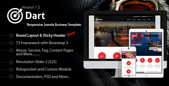 Dart - Responsive Joomla Business Template - Business Corporate