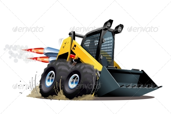 GraphicRiver Cartoon Skid Steer 8635928