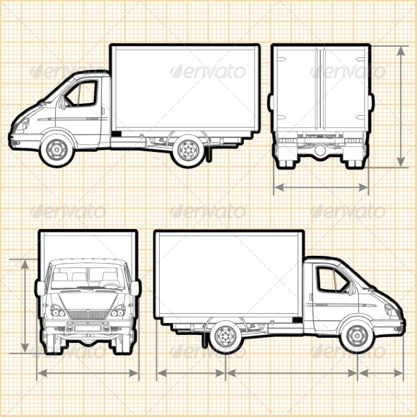 GraphicRiver Delivery Cargo Truck 8635944