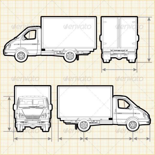 GraphicRiver Delivery Cargo Truck 8635944