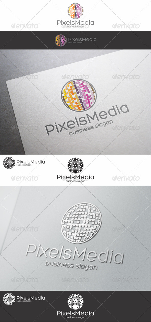 GraphicRiver Pixels Media Logo 8636284