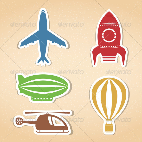 GraphicRiver Air Transport Icons 8636413