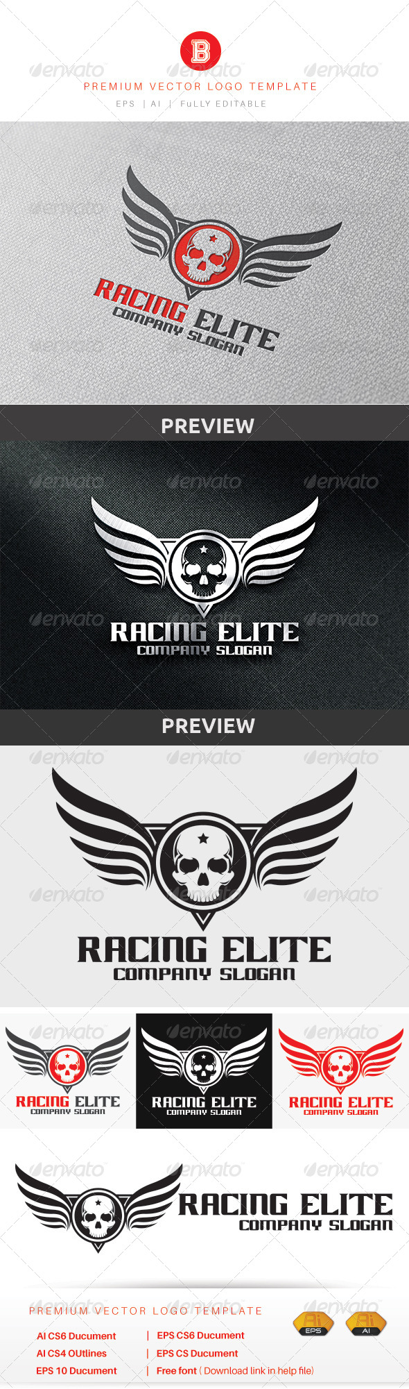 GraphicRiver Racing Elite 8636620