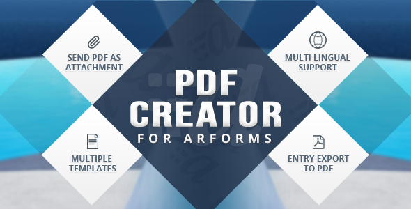ARForms has new extension which creates PDF of form entries. PDF Creator For ARForms is just another wordpress plugin which you can install and manage just like