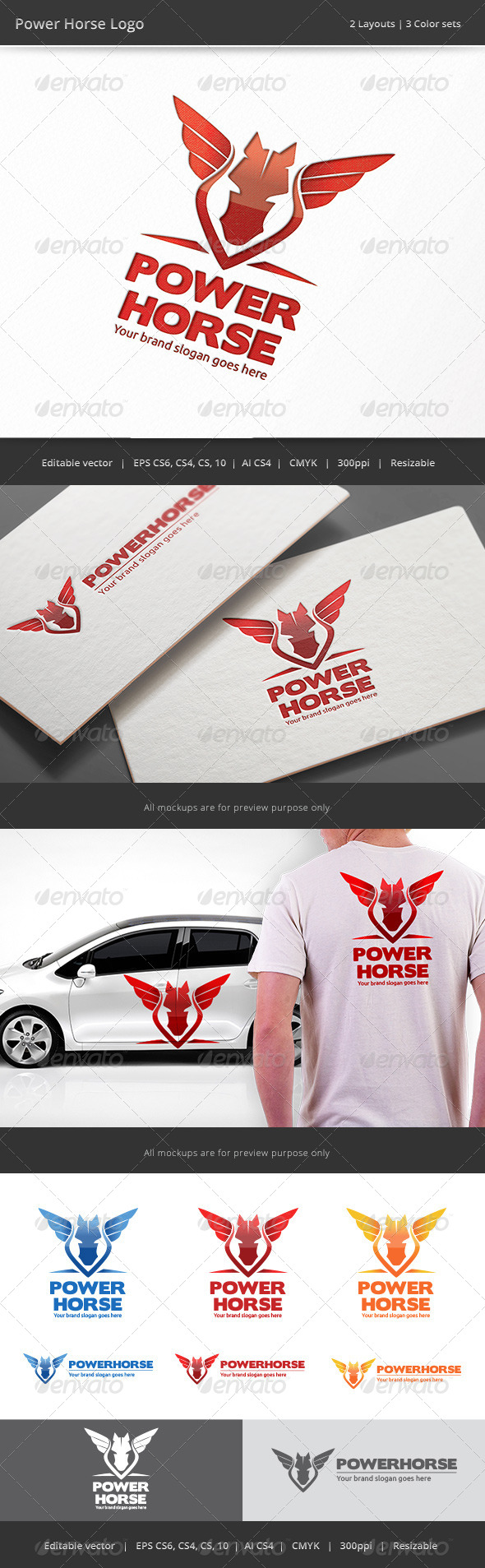 GraphicRiver Horse Power Logo 8636674