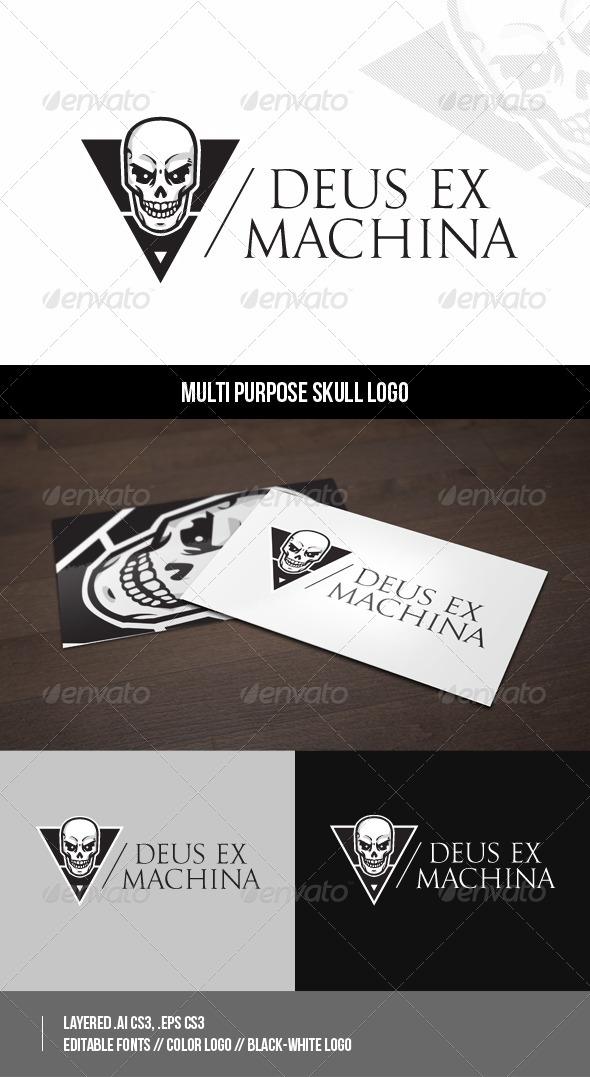GraphicRiver Multi purpose Skull Logo 8563311