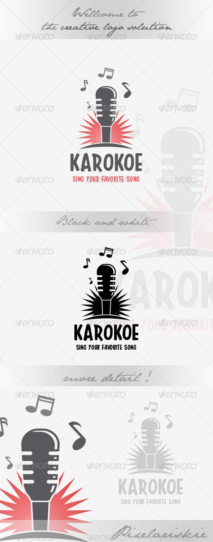 GraphicRiver Karaoke Microphone Logo 8636778