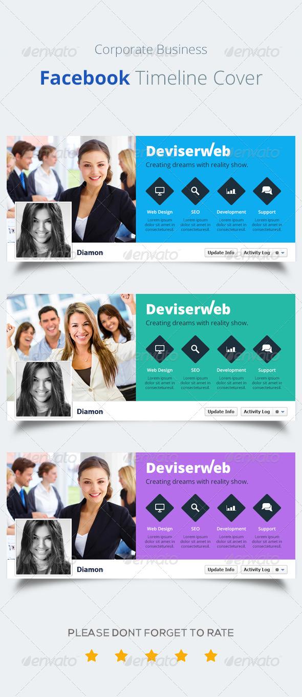 GraphicRiver Corporate Facebook Timeline Cover 8636783