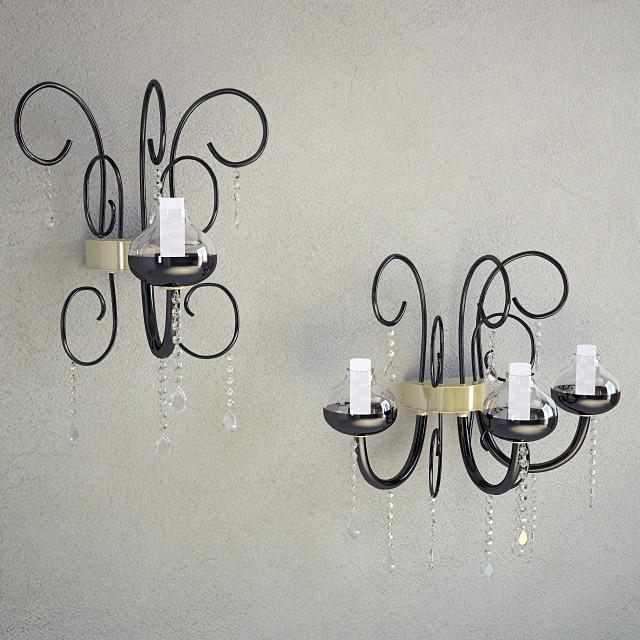 3DOcean Sconce Intrecci Lamp 3D Model 878091