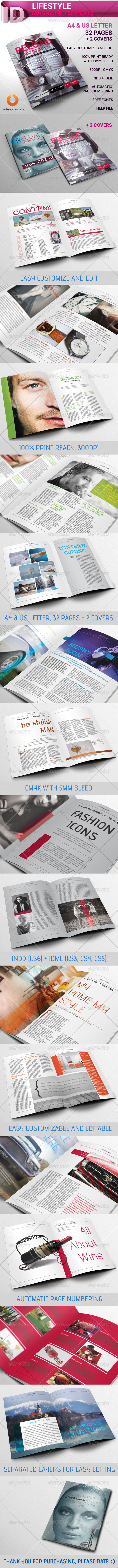 GraphicRiver Lifestyle Magazine A4 US 32 Pages 8636937