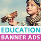 Education Banner Ads - GraphicRiver Item for Sale