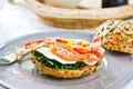 Bacon ,Egg and Spinach Sandwich breakfast - PhotoDune Item for Sale