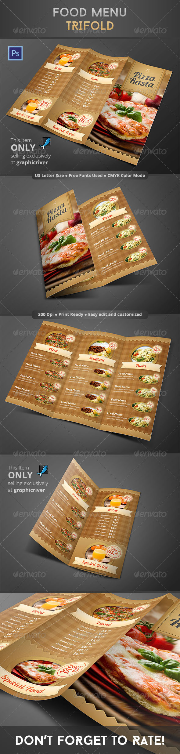 GraphicRiver Food Menu Trifold 8637080