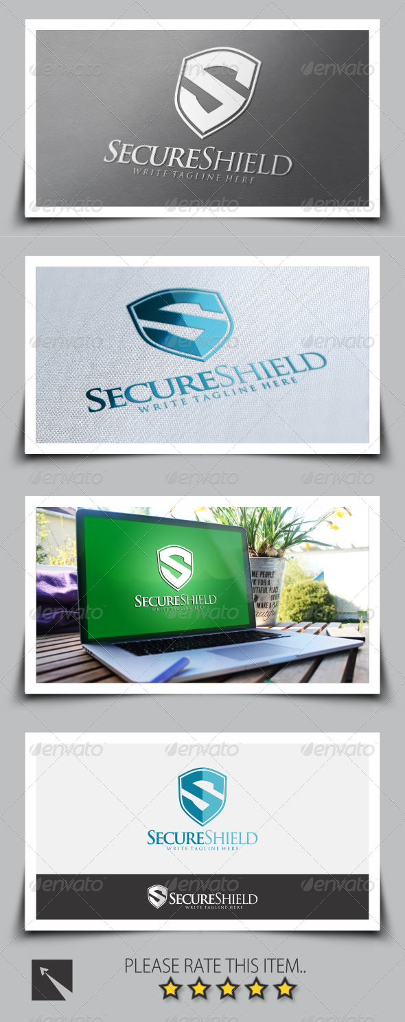 GraphicRiver Secure Shield Letter S Logo Template 8637100
