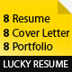 Lucky Resume - GraphicRiver Item for Sale