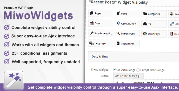 CodeCanyon MiwoWidgets Advanced Widget Manager 8637106