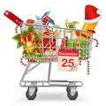 Cart with Christmas Decorations - PhotoDune Item for Sale