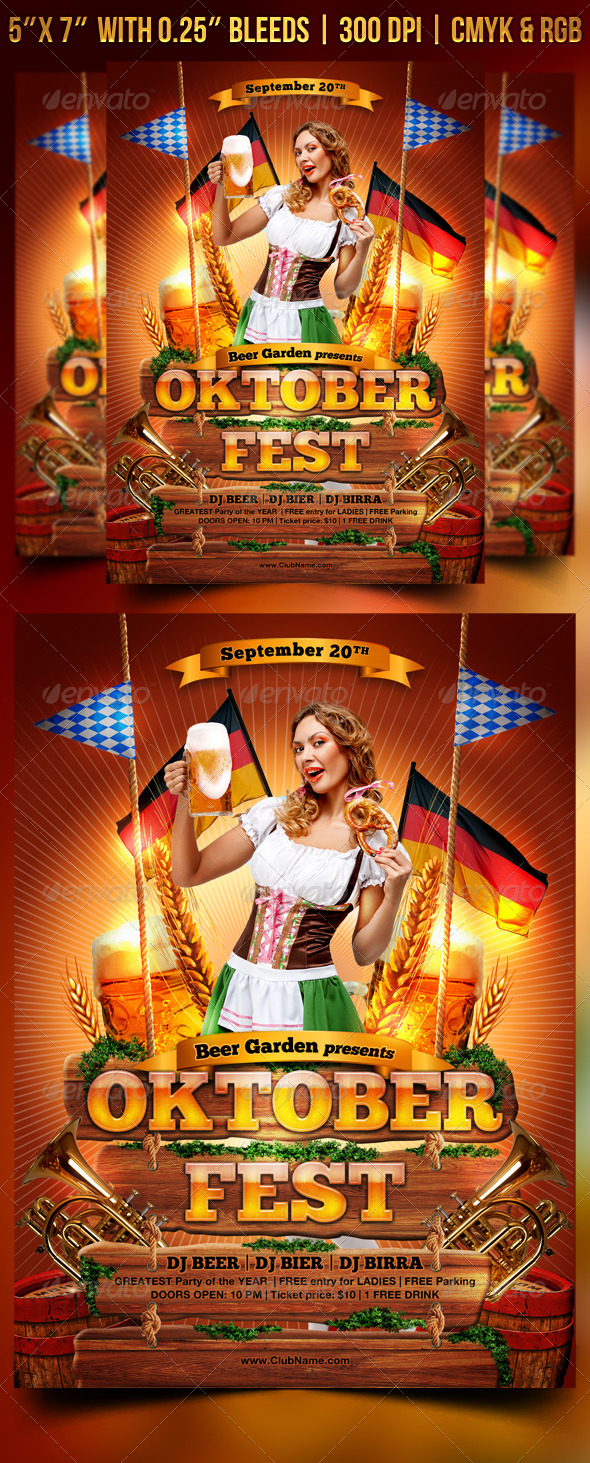 GraphicRiver Oktoberfest Flyer Template 8637238