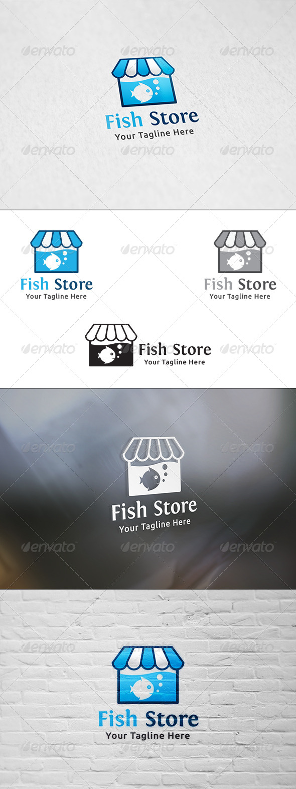 GraphicRiver Fish Store Logo Template 8637358
