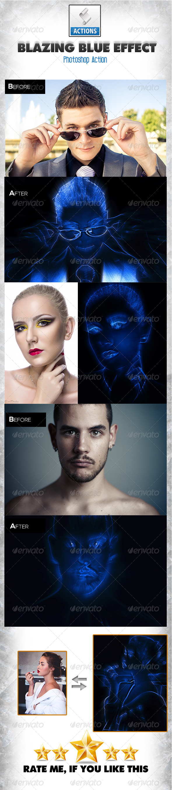 GraphicRiver Blazing Blue Effect 8637396