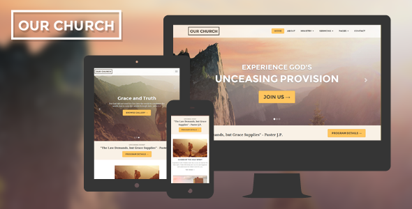 ThemeForest Church Website Template Responsive Our Church 8546860