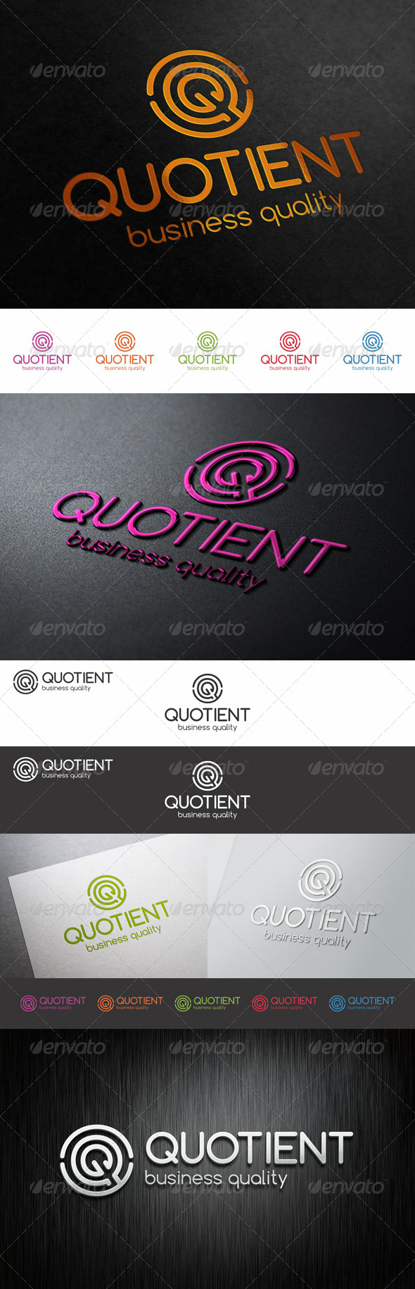 GraphicRiver Q Logo Letter Quotient 8638316