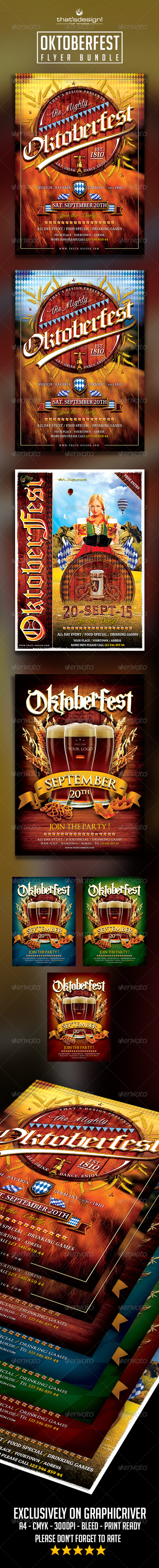 GraphicRiver Oktoberfest Flyer Bundle 8638321