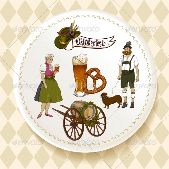 GraphicRiver Oktoberfest Beer Set on a White Plate 8638750