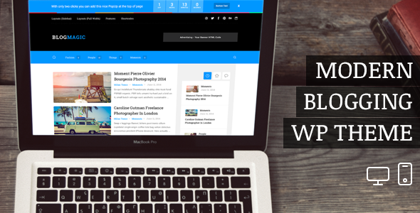 ThemeForest BlogMagic Clean and Modern WordPress Blog Theme 8126975