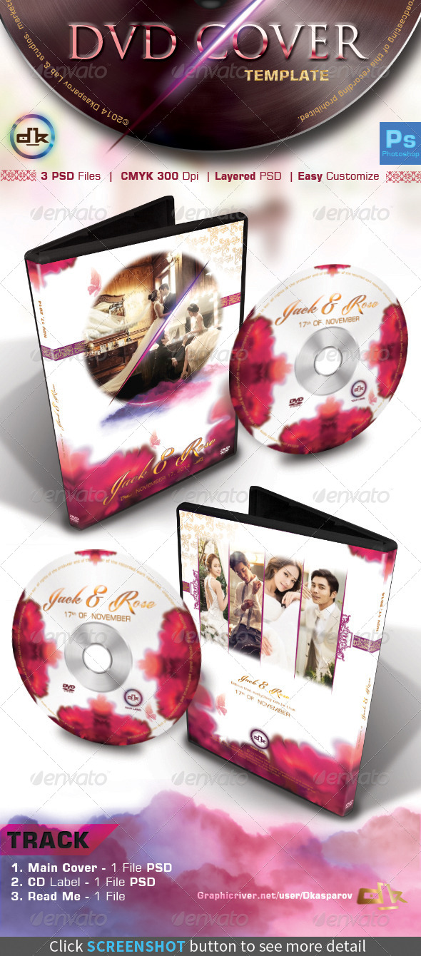 GraphicRiver Wedding DVD Cover Flowa 8638827