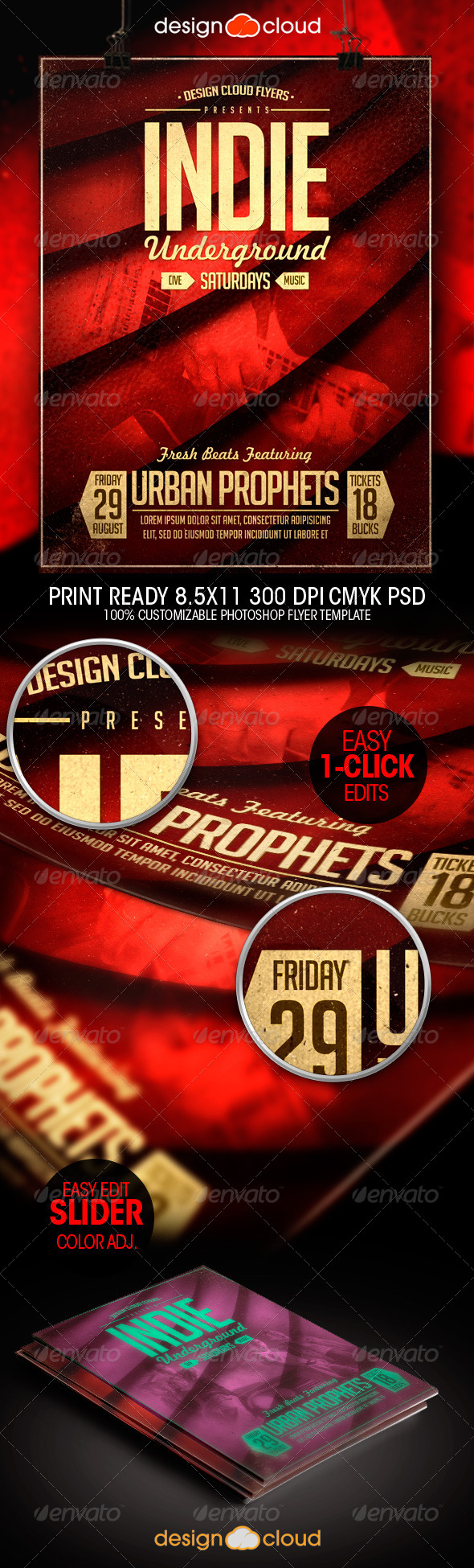 GraphicRiver Indie Underground Poster Flyer Template 8638928