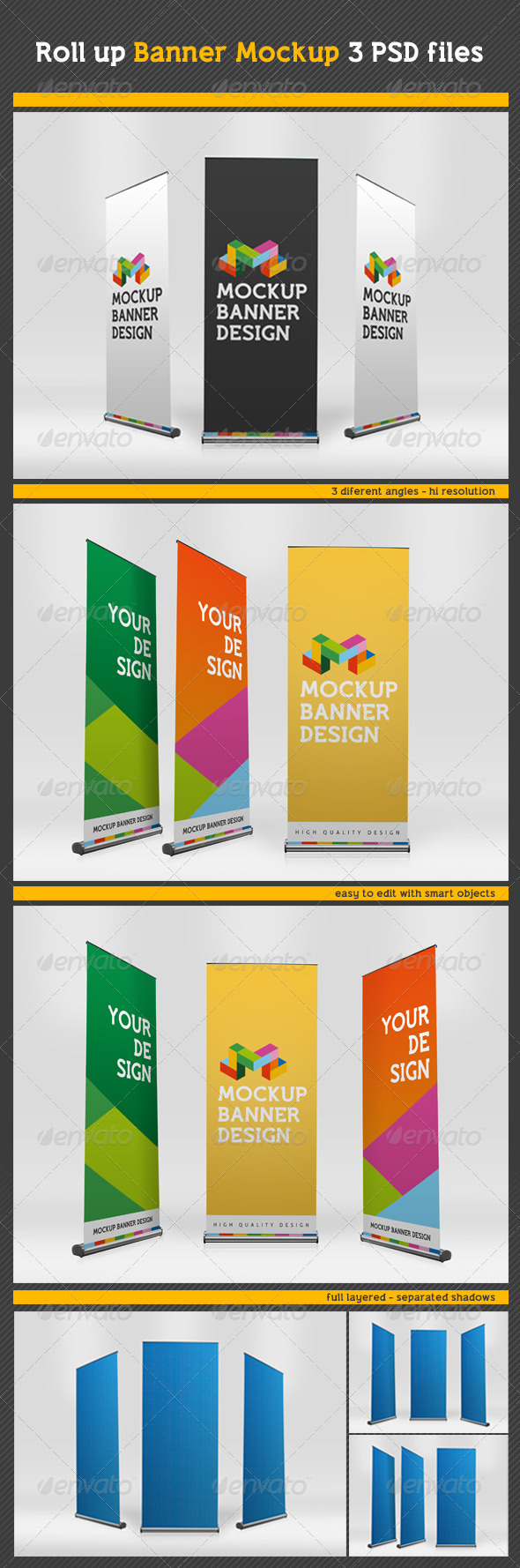 GraphicRiver Professional Rollup Banner MockUp 8638949