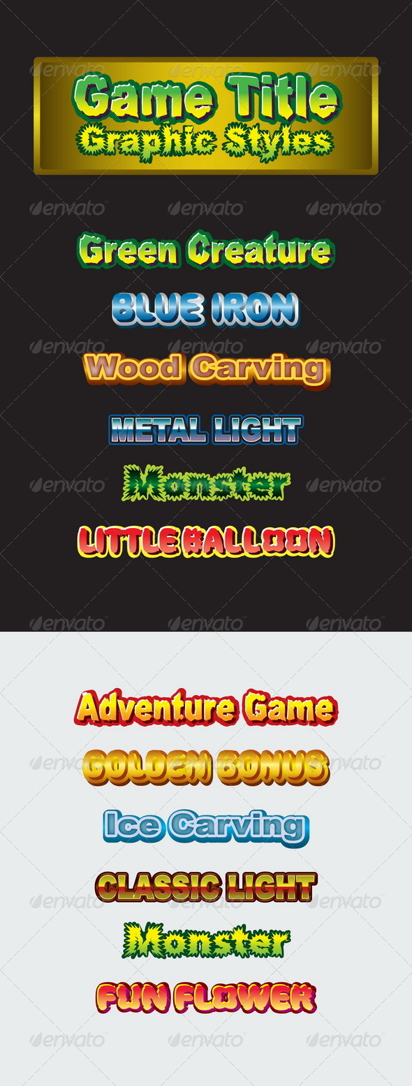 GraphicRiver Game Title Graphic Styles 8639138