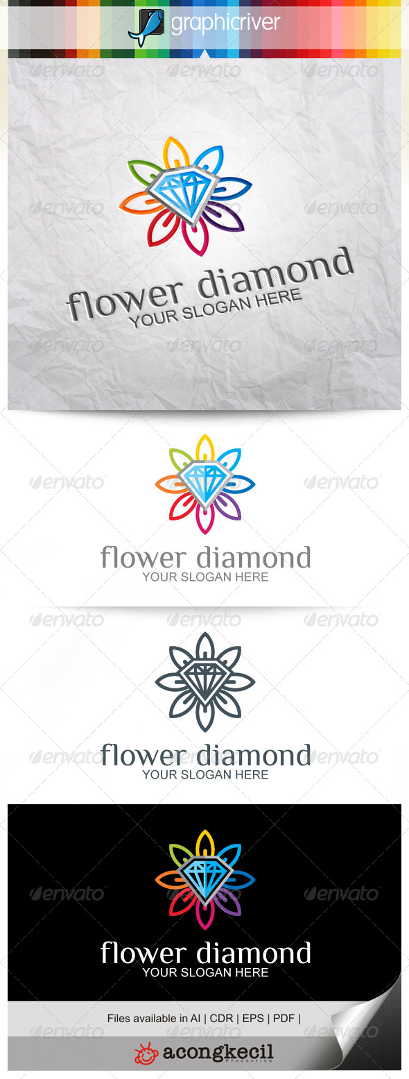 GraphicRiver Flower Diamond 8639145
